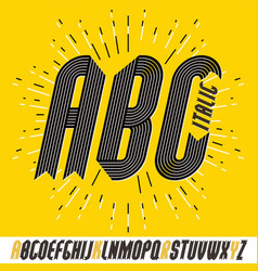 Set of trendy modern capital alphabet letters vector