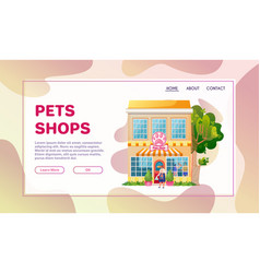 Shops facades flat colorful vector