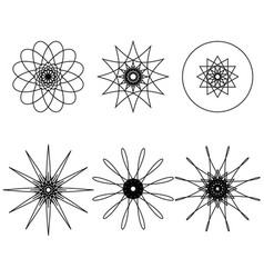 Spirograph design elements vector