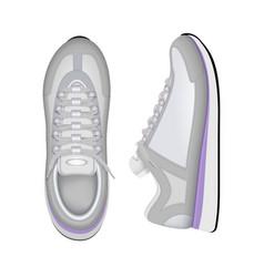 sport shoes realistic composition vector image