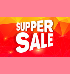 super sale design creative banner for shopping vector image
