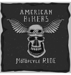 Symbol for the biker club vector