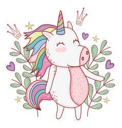 unicorn cute cartoon vector image