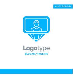 User profile id login blue solid logo template vector