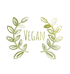 vegan eco label vector image