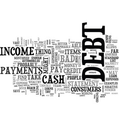 What can i do if i am in debt text word cloud vector