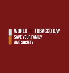 World no tobacco day style banner collection vector