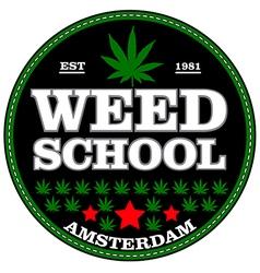 amsterdam Marijuana stamp over white background vector image