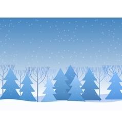 Beautiful Chrismas winter flat landscape vector image