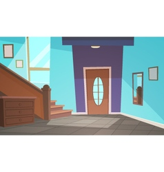 Cartoon Interior - Blue vector image vector image