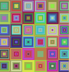 Colorful square pattern mosaic background design vector