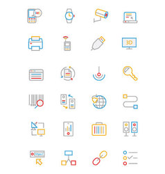 Communication Colored Outline Icons 4 vector image vector image