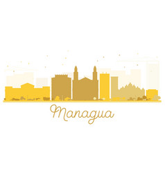managua city skyline golden silhouette vector image vector image