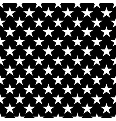 Stars seamless pattern small white black vector image vector image