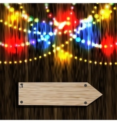 A board with a pointer Nailed pointer Reflection vector image