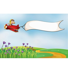 airplane banner vector image vector image