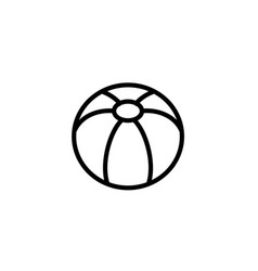 ball icon thin line black on white background vector image