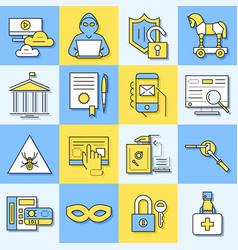 digital blue internet security data vector image vector image
