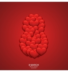 modern 8 march background Womens day vector image