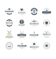 Vintage Logos Design Templates Set design vector image