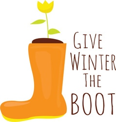 Winter The Boot vector image vector image