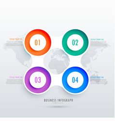modern circular four steps infographic design can vector image