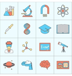 Science and research icon flat line vector image vector image