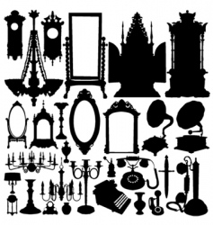 antique furniture and objects vector image vector image