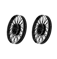 black spoke wheel vector image vector image