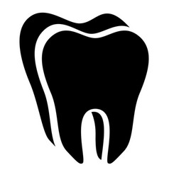 canine tooth icon simple style vector image