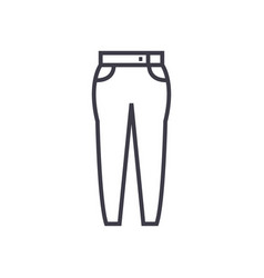 jeans line icon sign on vector image vector image
