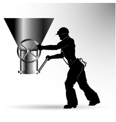 silhouette of the worker vector image vector image