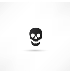 Skull icon isolated vector image vector image