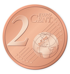 2 euro cent vector image