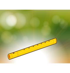 A golden flute vector