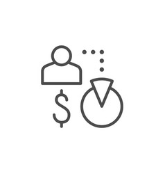 Affiliate sale line outline icon vector