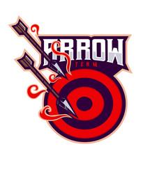 arrow esport mascot logo vector image