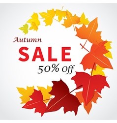 autumn sale banner flat design vector image
