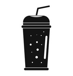 banana kiwi smoothie icon simple style vector image