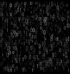 Binary code digital technology background vector