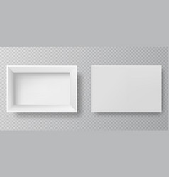blank packaging boxes - open and closed vector image