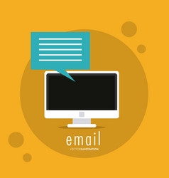 Bubble computer email message mail icon vector