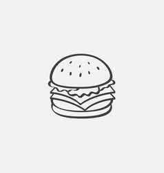 burger icon linear vector image