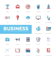 Business infographics flat design icons web vector image