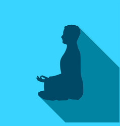 businessman meditation vector image