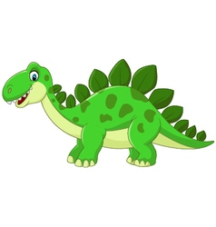 Cartoon cute dinosaur vector