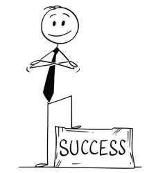 Cartoon of confident man or businessman standing vector
