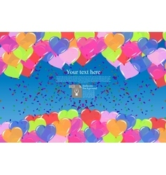 color balloons background vector image