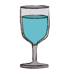color blurred silhouette of glass of wine with vector image