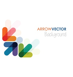 Colourful arrows vector